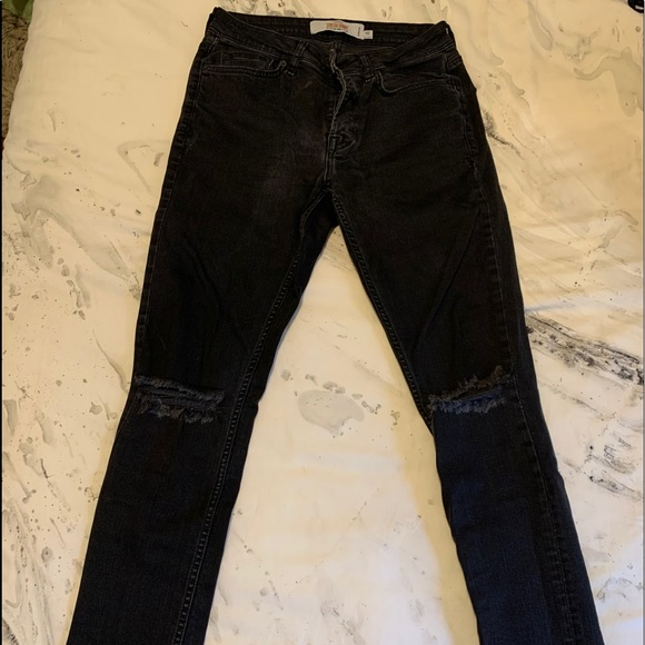 TOPMAN black ripped denim jeans